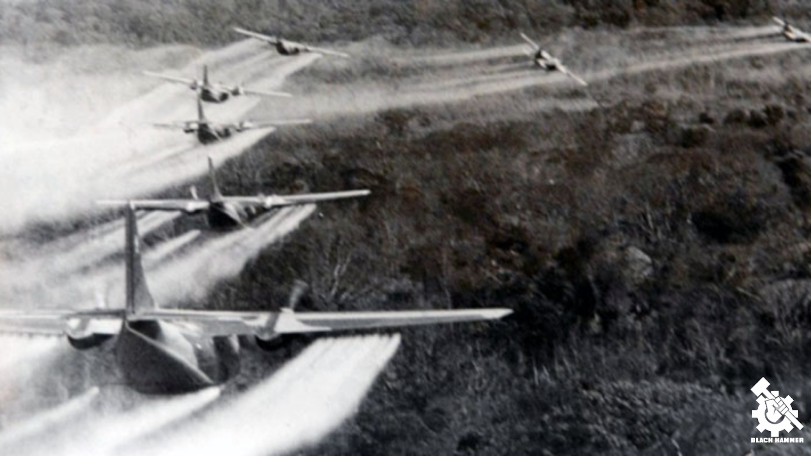 Operation Ranch Hand: 19-20 million gallons of toxic herbicides & Agent Orange that targeted Cambodia, Laos & Vietnam