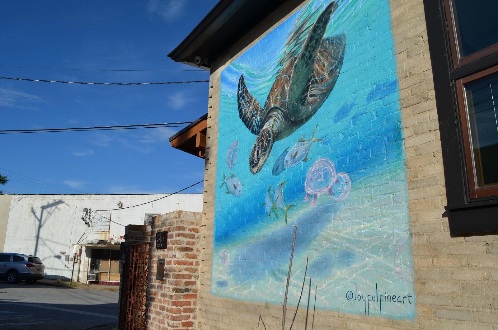panama city mural seaturtle
