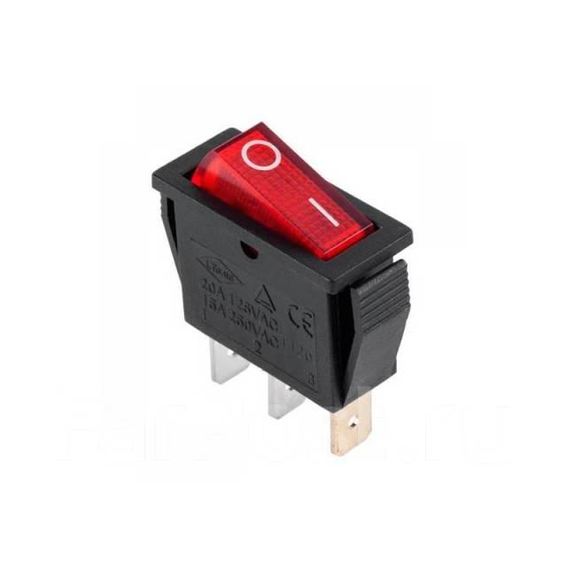 Выключатель клавишный миниатюрный с подсветкой, Корея - Свет и электрика в  Артеме