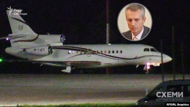 12 червня «Схеми» зафіксували, як в аеропорту «Бориспіль» приземлився приватний літак із Лондона