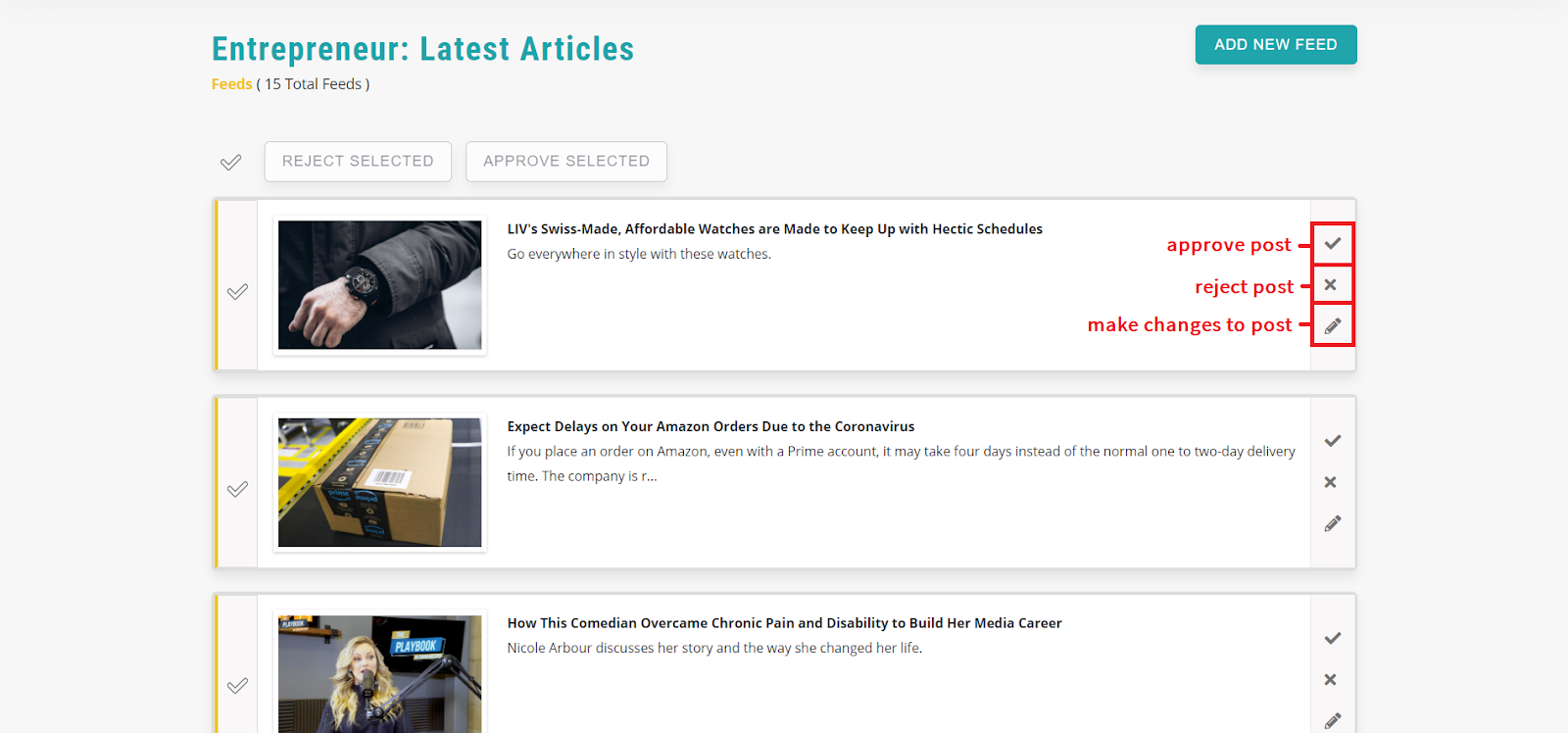 RSS feeds-recurpost-social media scheduling tool