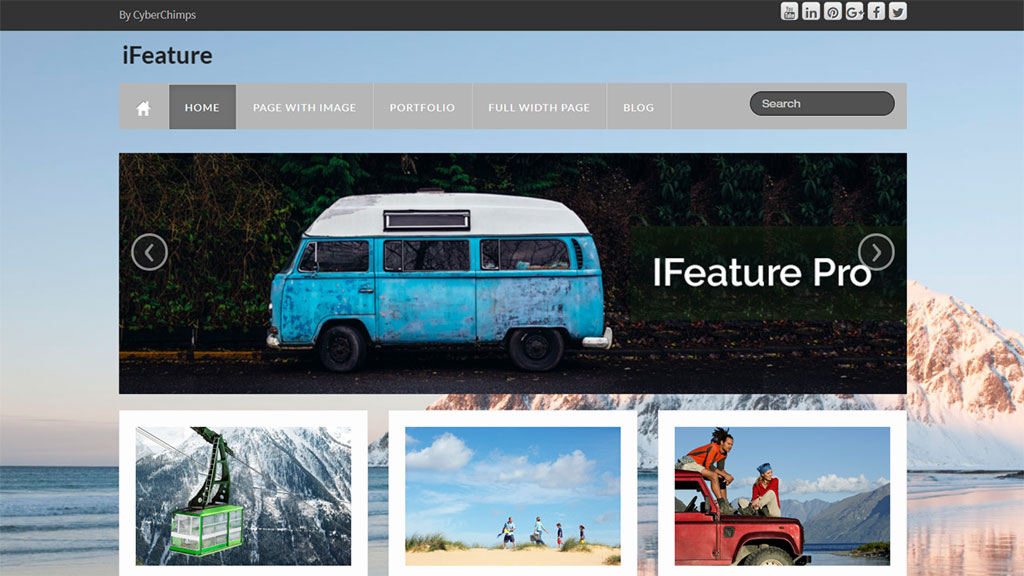 tema para blog wordpress ifeature