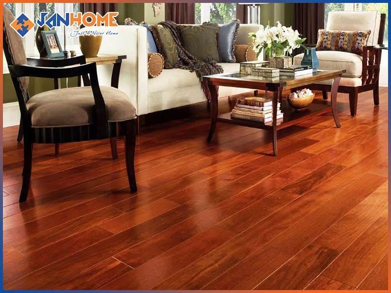 Sàn gỗ Căm xe có vân gỗ đẹp, thích hợp với nhiều không gian