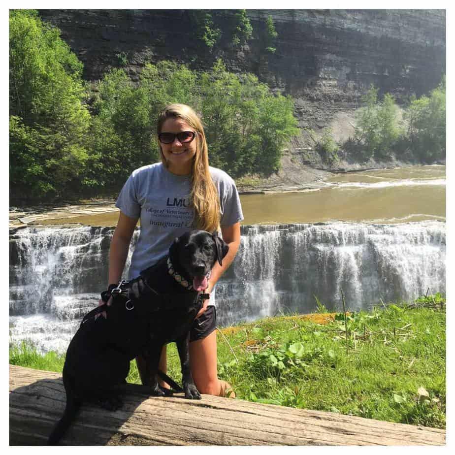 Kayla Mehan and her dog Bailey