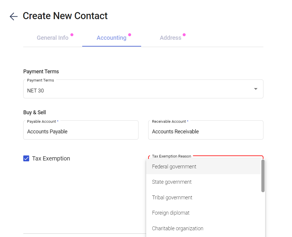 Tax Exemption for Specific Clients with Deskera