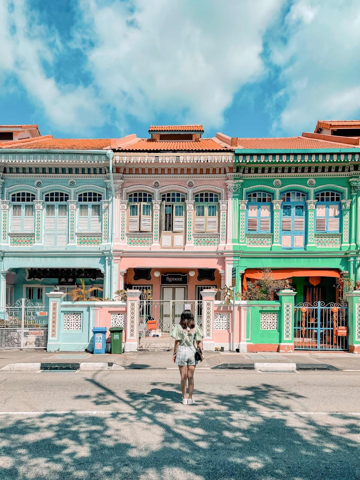 新加坡 彩色娘惹小房子,淡雅徒步路線...