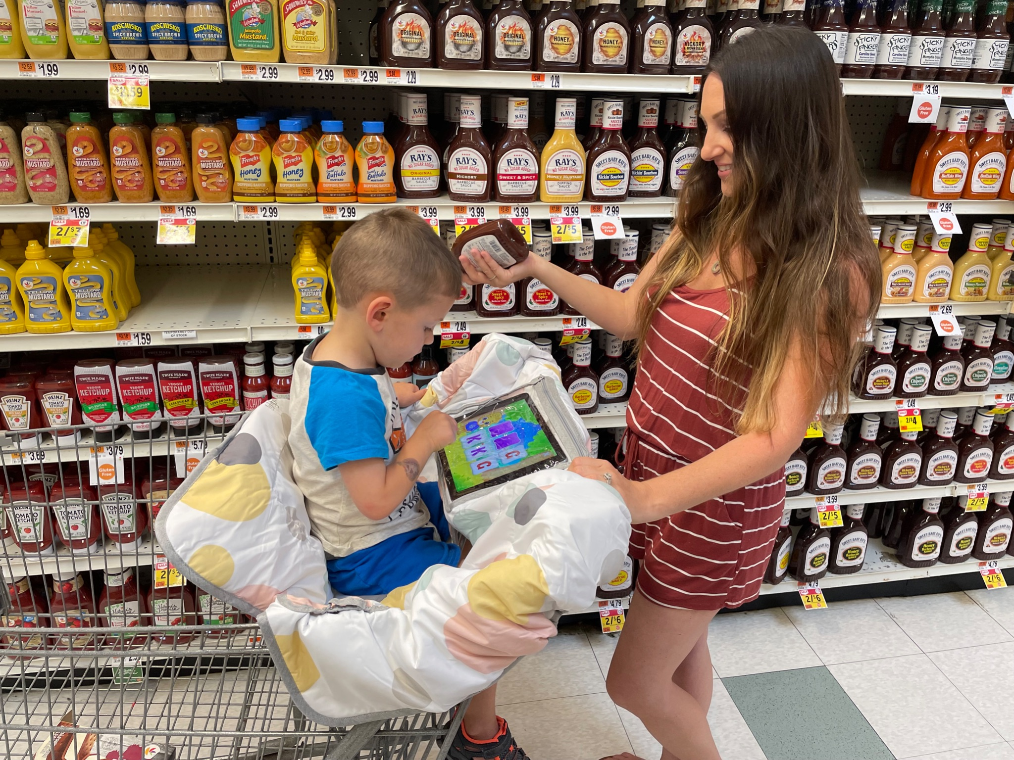 A shopping cart cover and waterproof outdoor blanket are both items you want to take with you on all your travels. Both of these products are made by Lulyboo, a company that you can trust for safe baby and toddler products.