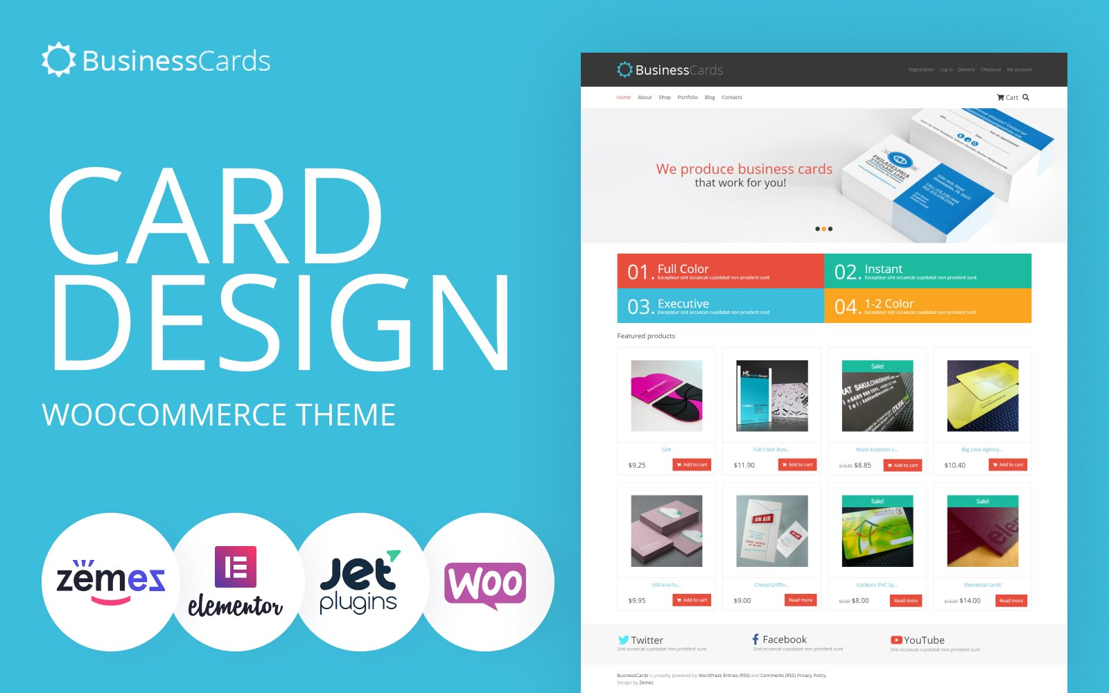 Fastest WooCommerce themes Business Cards