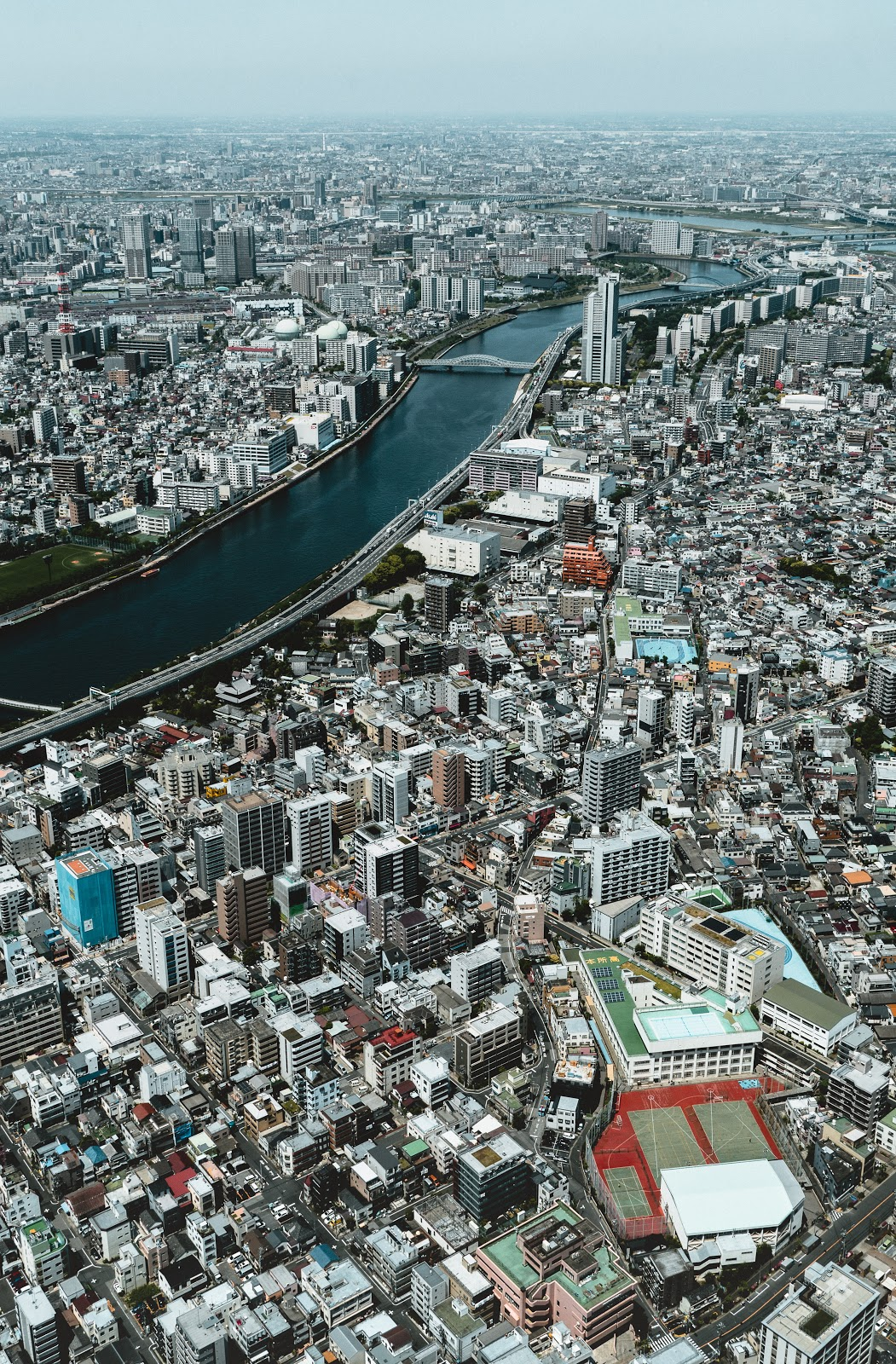 aerial view of expensive city Tokyo city japan