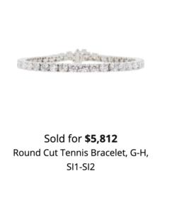 sell gold and diamond tennis bracelet