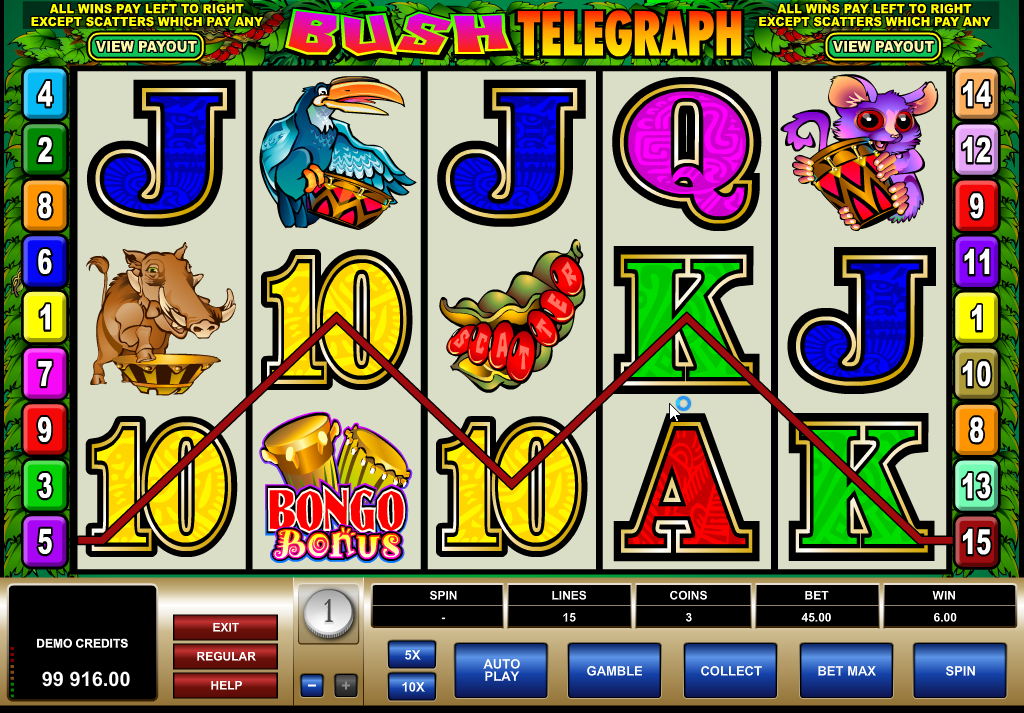 Bush Telegraph Slots Game Review