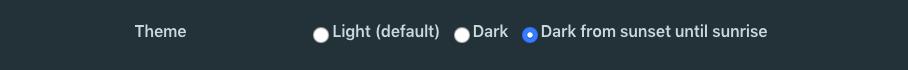 Dark Mode configuration in Weekdone