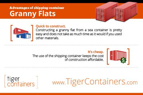 advantages of shipping container granny flat