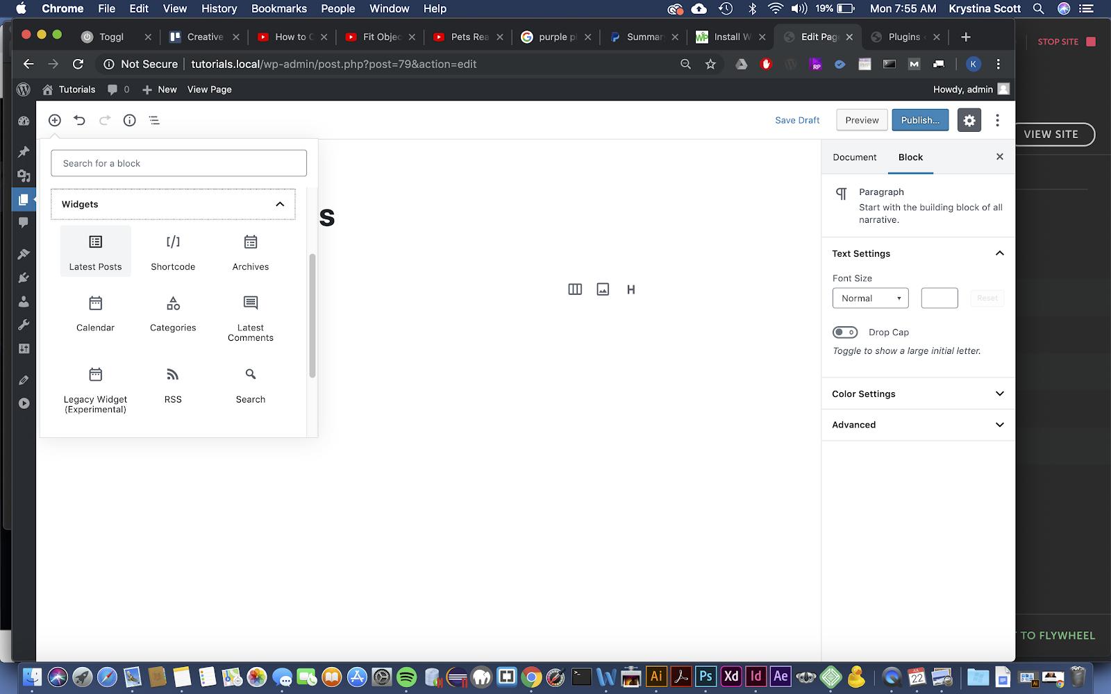 Latest WordPress Posts in Gutenberg Block Editor