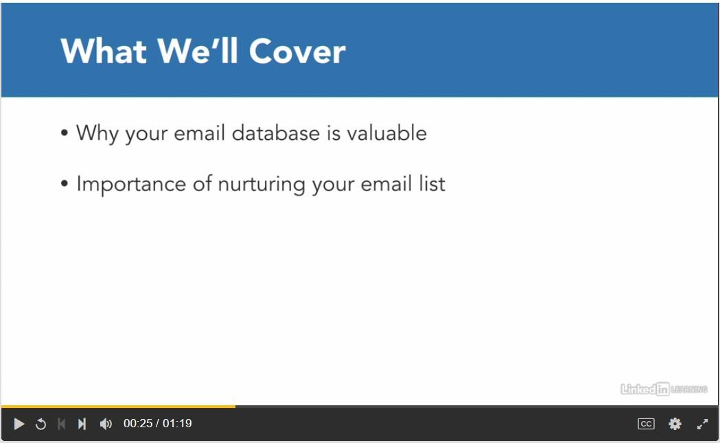 Lynda email marketing training courses