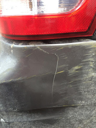 Super glue cracked bumper
