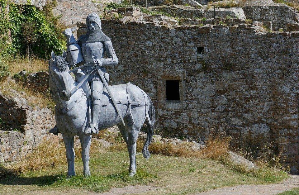 Jersey, Castle, Orgueil, Knight, Horse, Equestrian