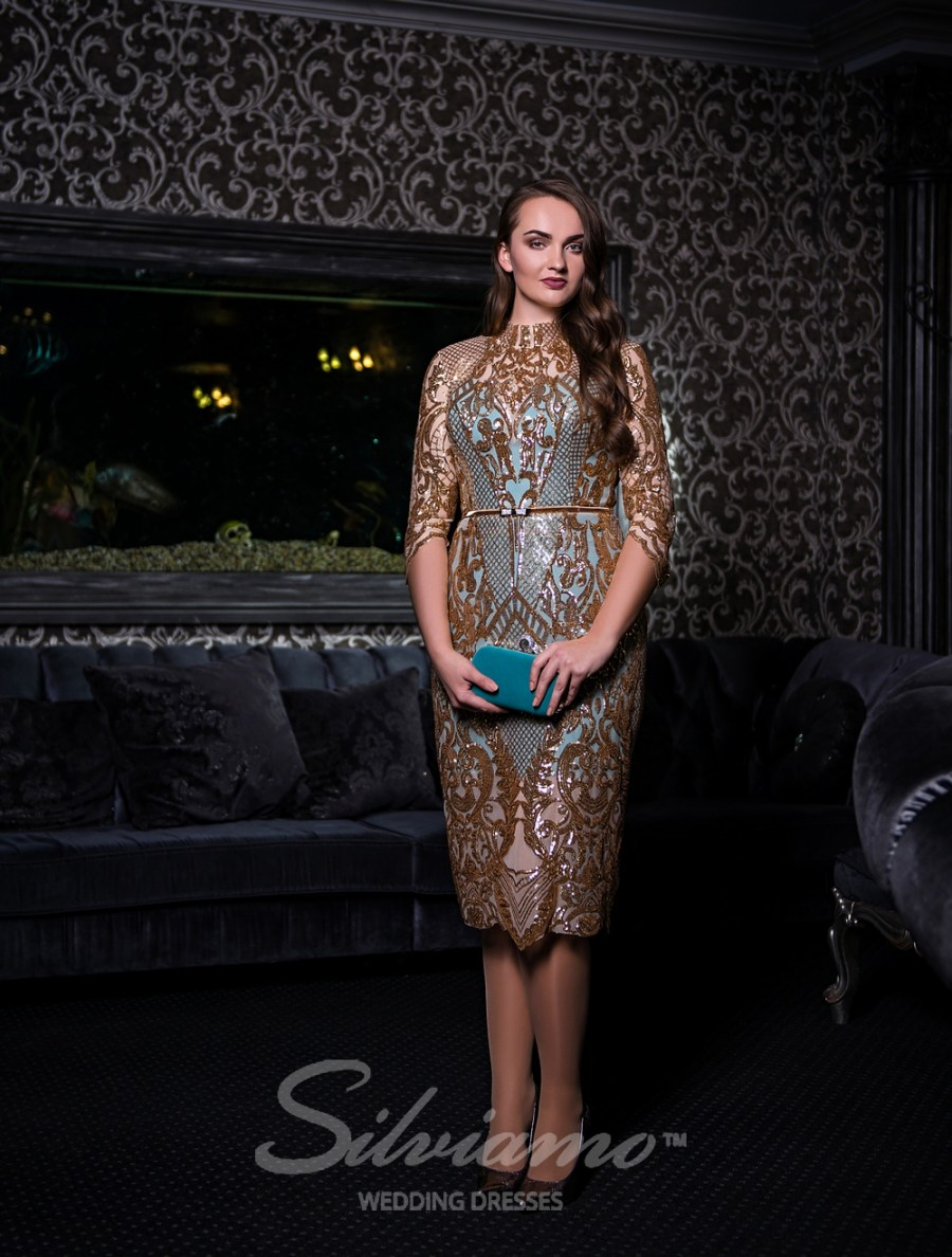 Вечернее платье длинны миди оптом от Silviamo