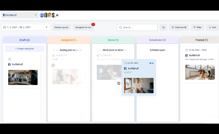 kontentino marketing tool interface