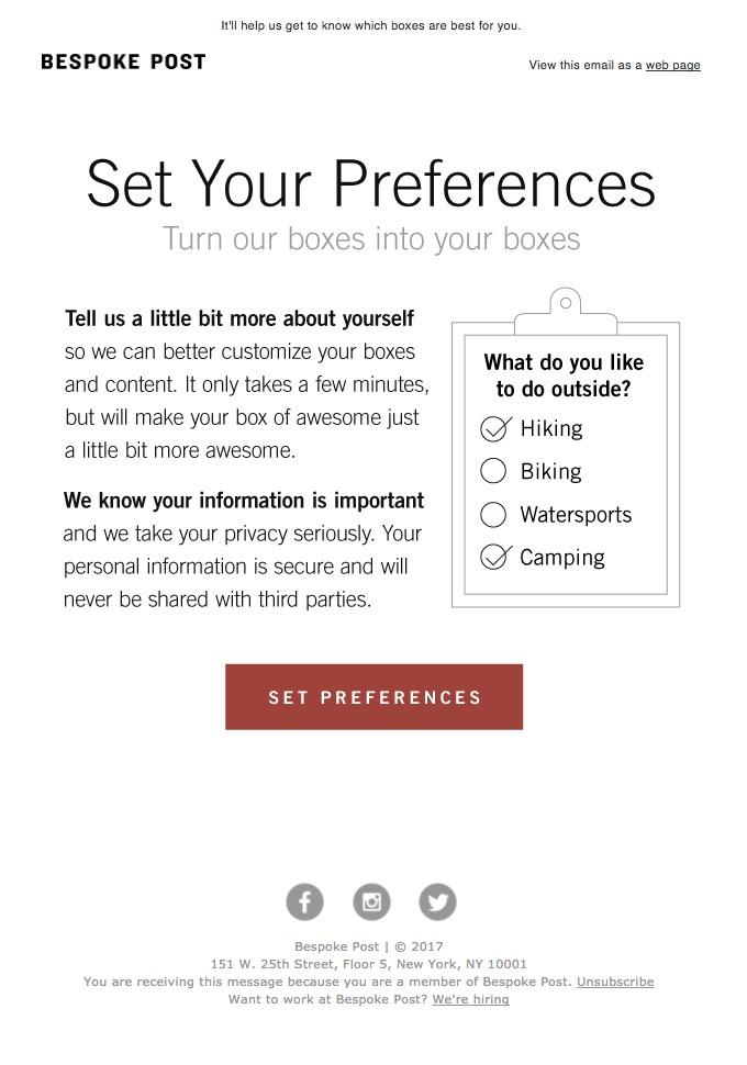 Email preference centers give your readers a chance to give you the important information you need