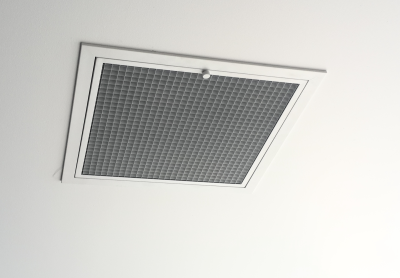 Filtered ceiling inlet