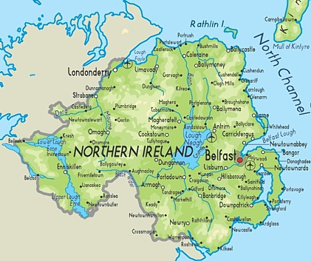 Northern Ireland is a part of the United Kingdom of Great Britain and Northern Ireland in the north-east of the island of Ireland..jpg
