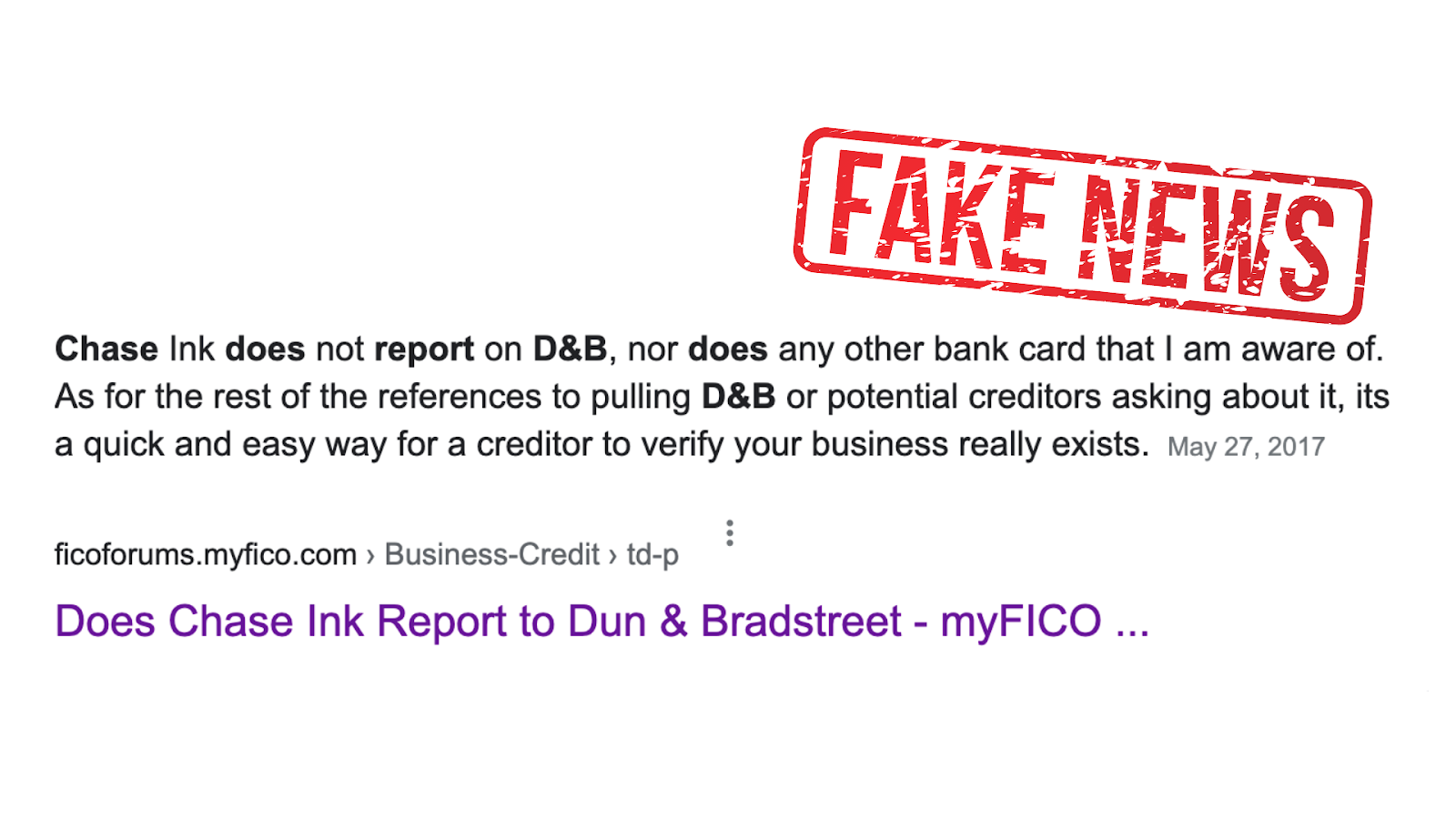 Does Chase Ink Report to D&B?