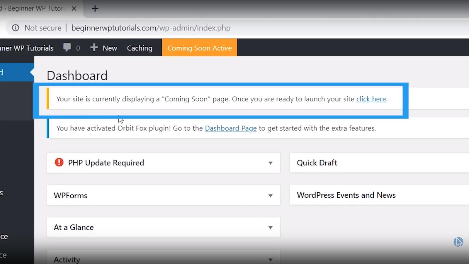 publish website wordpress tutorial for beginners