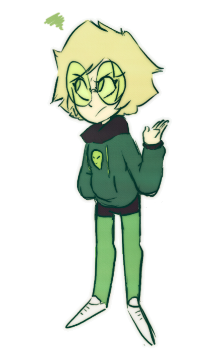 Someone requested a human Peridot (like my human Lapis!) and this was my take on what she might look like! Tumblr