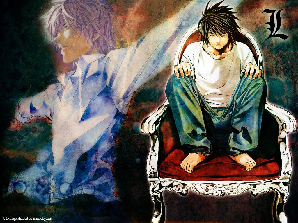 Death Note Wallpaper L And Light Minitokyo