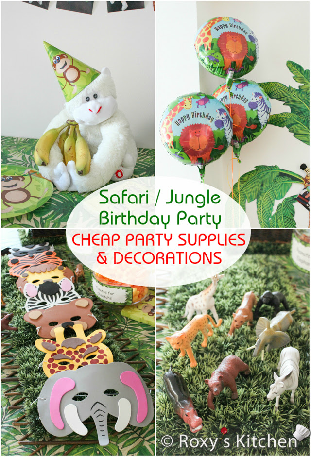 Safari Jungle Themed First Birthday Party Cheap Party Supplies Decorations