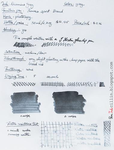Diamine Grey on photocopy