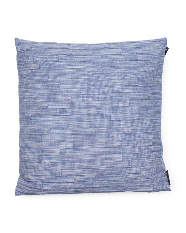 image of Indigo Knife Pleat Pillow