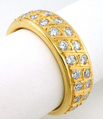 Foto 1, Neu! Brillant-Vollmemoryring massiv 18K Gelbgold Luxus!, S7364