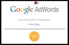 Certificado Renovado do Google Adwords para a ...