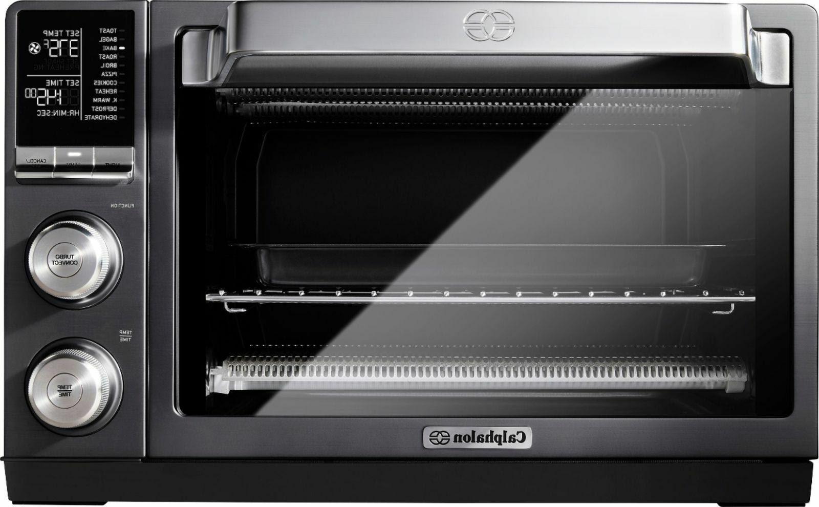 Calphalon Quartz Heat Countertop Toaster Oven, Dark Stainless