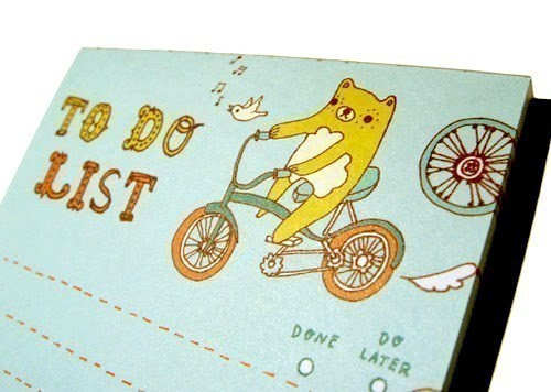 1-BEAR TO DO LIST notepad by boygirlparty