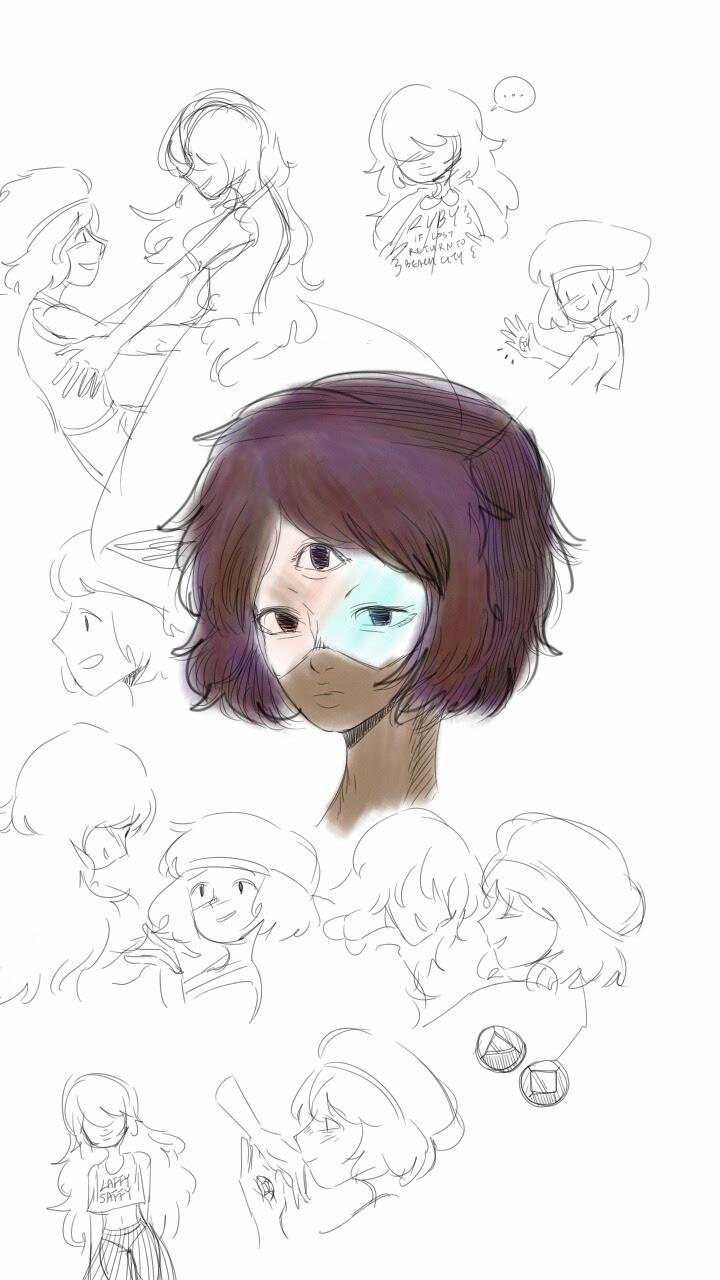 Some Garnet /Ruby Sapphire doodles!!