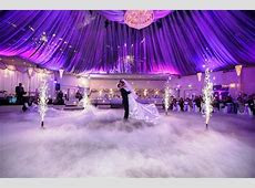 San Remo Ballroom   Where our wedding reception will be held. (Love the purple lighting
