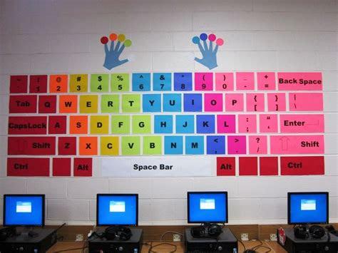 computer classroom decor ideas  pinterest