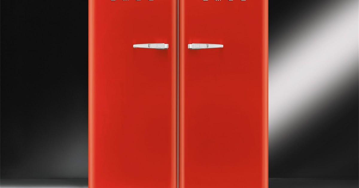 Smeg Kühlschrank Tür Einstellen : Smeg kühlschrank retro rot burns stephanie