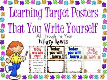 1000+ images about Learning target display boards/I can statments ...
