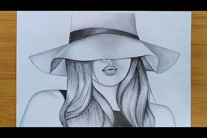 35+ Trends For Pencil Sketch Easy Girl With Cap Drawing