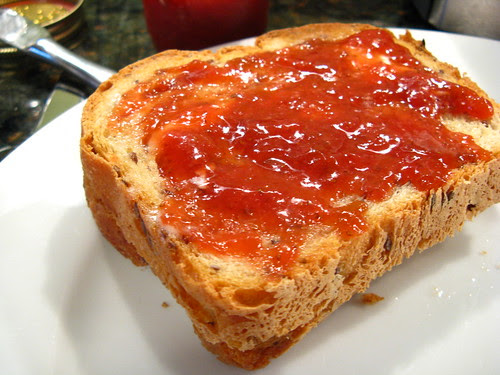 Strawberry Rhubarb on Toast