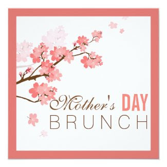 Blooming Cherry Mother's Day Brunch Invitation