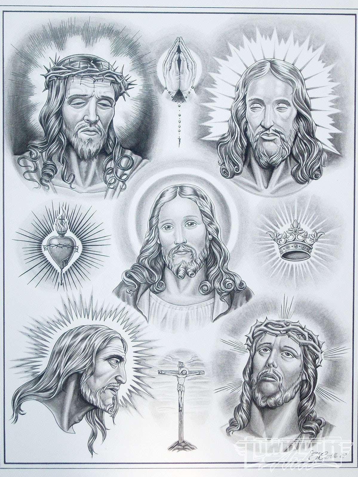 Jesus Christ Tattoos Designs For Men