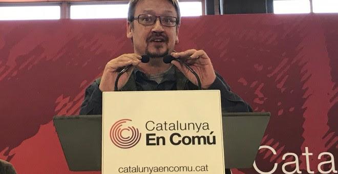 El líder de CatComú, Xavier Domènech./EUROPA PRESS