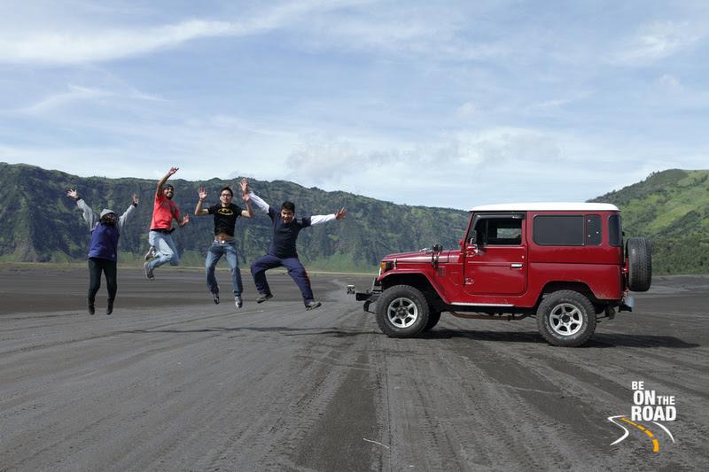 Jumping high at Bromo National Park