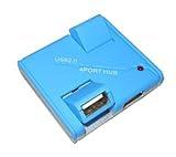 ポート可動式 USB 2.0 4ポートハブNI-USBHUB32-BL