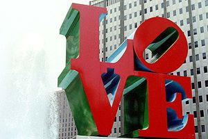"Home of Robert Indiana's famed ""LOVE&quot..."